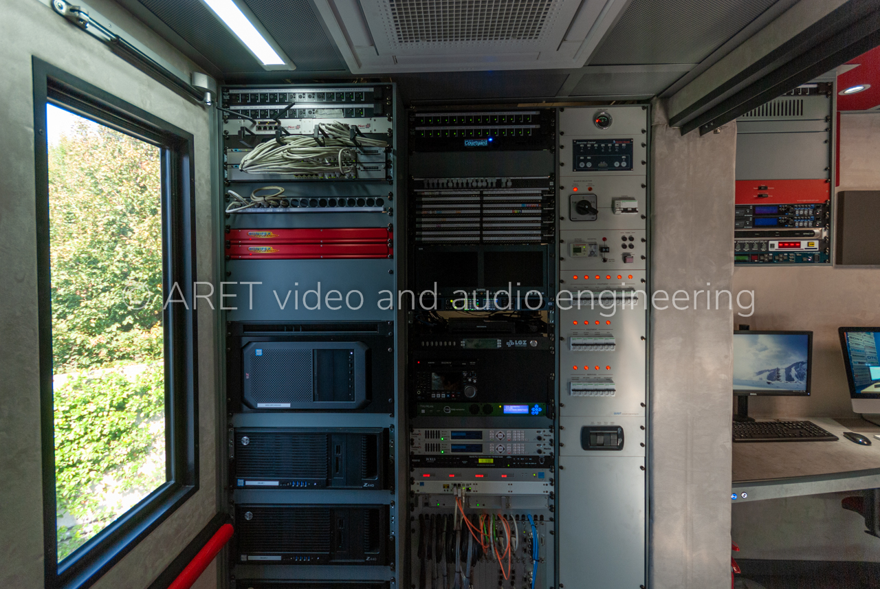 Radio Ob Van With Modular Design Aret Circuit Electronic Besides This As Per Standards Has An Automatic Leveling And Stabilization System That Can Be Operated Through Remote Control
